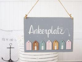 "Holzschild ""Martti"" - *Ankerplatz*"