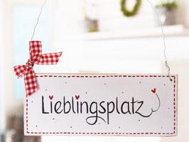 """Holzschild """"Ole"""" - *Lieblingsplatz* , im skandinavischen Landhausstil"""