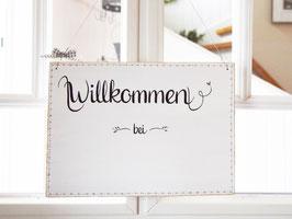 """Türschild """"Liselott""""  - *Willkommen bei ...* - personalisiert mit Wunschnamen"""