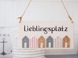 "Holzschild ""Aarne"" - *Lieblingsplatz*"