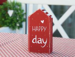 """Holzhaus  """"Malte"""" - *HAPPY day* - rot-weiß, mit Pünktchen"""