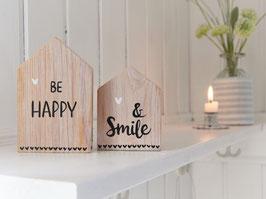 """Holzhäuser  """"Niels & Nora"""" - *BE HAPPY & smile* - bestehend aus 2 Häuschen"""