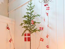 Danebrog-Girlande - Schnur mit 20 kleinen Dänemark-Flaggen