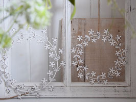 "Metall- Blütenkranz ""Hilma"" - im Shabby Style - wählbar aus 2 Größen"