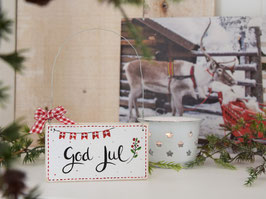 """Holzschild """"Aada"""" - *God Jul*"""