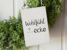 """Holzschild """"Lieke"""" - """"Wohlfühlecke"""" , im skandinavischen Landhausstil"""