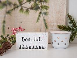 """Holzschild """"Elias"""" - *God Jul*"""