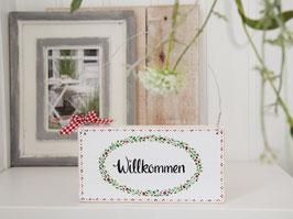 """Holzschild """"Stine"""" - *Willkommen*"""