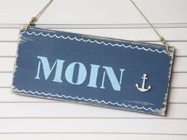 "Holzschild ""Moin"" - mit Anker"