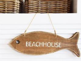 """Holzschild Fisch """"BEACHHOUSE"""""""