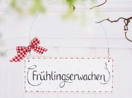 """Holzschild """"Lana"""" - """"Frühlingserwachen"""" , im skandinavischen Landhausstil"""