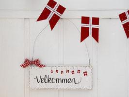 """Holzschild  """"Lotta"""" - *Velkommen* - im skandinavischen Landhausstil"""