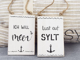 "Holzschild ""Mika"" oder ""Ove"", im Beachhouse-Style"