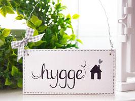 """Holzschild """"Alma"""" - """"hygge"""" , im skandinavischen Landhausstil"""