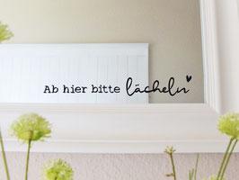 "Sticker  ""Lenje"" - *Ab hier bitte lächeln*"