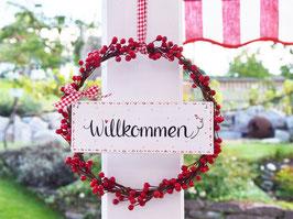 """Beerenkränzchen """"Ellie""""- *Willkommen* - im schwedischen Landhausstil"""
