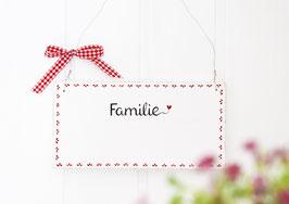"""Türschild """"Edda""""- *Familie ...* - personalisiert mit Wunschnamen"""