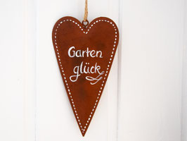 """Herz Edelrost """"Gartenglück"""""""