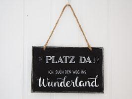 """Metalltafel Vintage """"Platz da!..."""""""