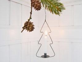 Metall-Tannenbaum mit Mini-Stabkerzenhalter