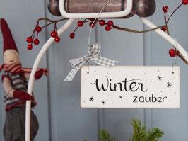 """Holzschild """"Michel"""" - Winterzauber"""