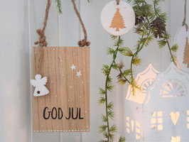 "Holzschild ""Laris"" - *GOD JUL*"
