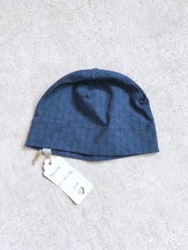 dünne Haube - Blaue Dreiecke  - KU 50-52cm