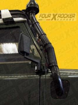 SNORKEL TUBOLARE METALLICO LAND ROVER DEFENDER DAL 300 TDI  /  FXR01565