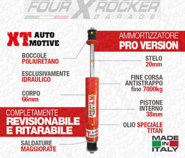 "AMMORTIZZATORI XT AUTOMOTIVE ""PRO VERSION"" PER NISSAN PATROL GR Y60 - Y61"