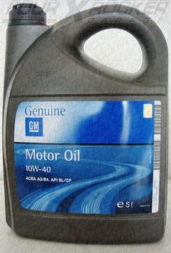 OLIO MOTORE GM MOTOR OIL 10W-40   5L