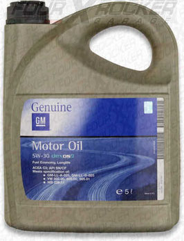 5W-30  GM  MOTOR OIL  DEXOS 2