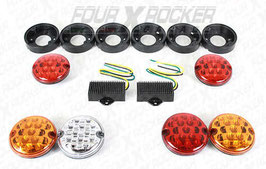 KIT 6 LUCI A LED POSTERIORI NAS CON SUPPORTI LAND ROVER DEFENDER  / FXR-BMGA1143