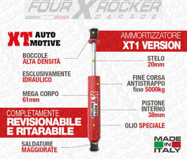"AMMORTIZZATORI XT AUTOMOTIVE ""RAID VERSION"" +6CM PER NISSAN PATROL GR Y60-Y61"