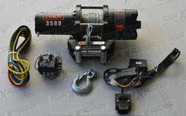 VERRICELLO TYREX ATV UTV 3500 LB CAVO ACCIAIO SERIE BLACK - FXR3500SP