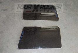 Vetri cristalli fissi laterali con modanatura cromata Mitsubishi Pajero 1' serie 3 porte