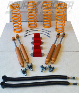 """ASSETTO KIT RIALZO """"SHARK"""" +5cm per LAND ROVER DISCOVERY 1 - RANGE ROVER CLASSIC / FXR01121"""