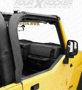 "COPPIA DOOR SURROUND KIT DX+SX JEEP WRANGLER TJ ""ADATTABILE SU WRANGLER YJ"""