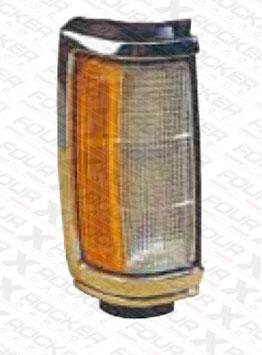 FANALINO ANTERIORE DX /SX  BIANCO ARANCIO CORNICE CROMATA MITSUBISHI L200  87/93