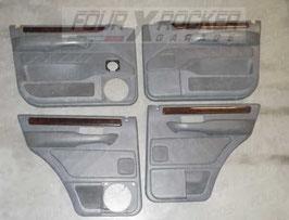 N° 4 pannelli sportelli in radica anteriori - posteriori Range Rover 2 P38