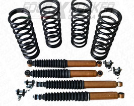 KIT RIALZO ASSETTO +5cm VERSIONE GOLD per LAND ROVER DEFENDER 90 - DISCOVERY 1 - RANGE ROVER CLASSIC / FXR01127