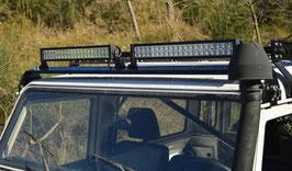 SUPPORTO BARRA A LED + 2 LED TYREX 55 CM LAND ROVER DEFENDER / FXR-OFF.99542LED