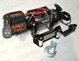 VERRICELLO TYREX 6500LB 12V SERIE BLACK CAVO ACCIAIO / FXR-6000P