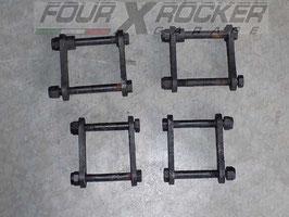 Kit n°4 biscottini balestre anteriori - posteriori Land Rover serie 3