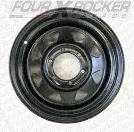 CERCHIO SCAMPANATO DAKAR NERO 6 FORI 7X16 -20  / FXR-TY15552