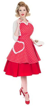 Schürze Dotty Red Sweetheart