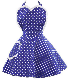 Schürze Dotty Blue Sweetheart
