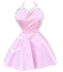 Schürze Dotty Pink Sweetheart