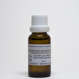 Pelargonium sidoides TM=D1 – Pelargonienwurzel-Urtinktur