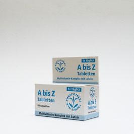 Vitamine A bis Z