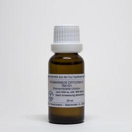 Rosmarinus officinalis TM=D1 – Rosmarinblätter-Urtinktur